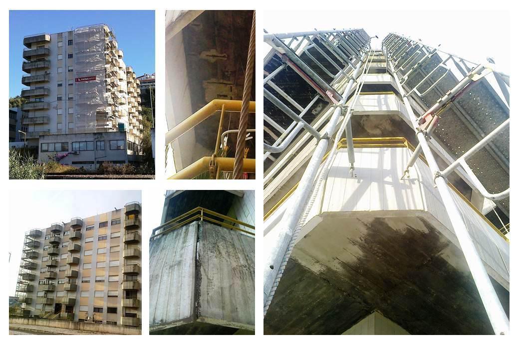 Reparação de elementos em betão armado | Edifício Atenas Parque