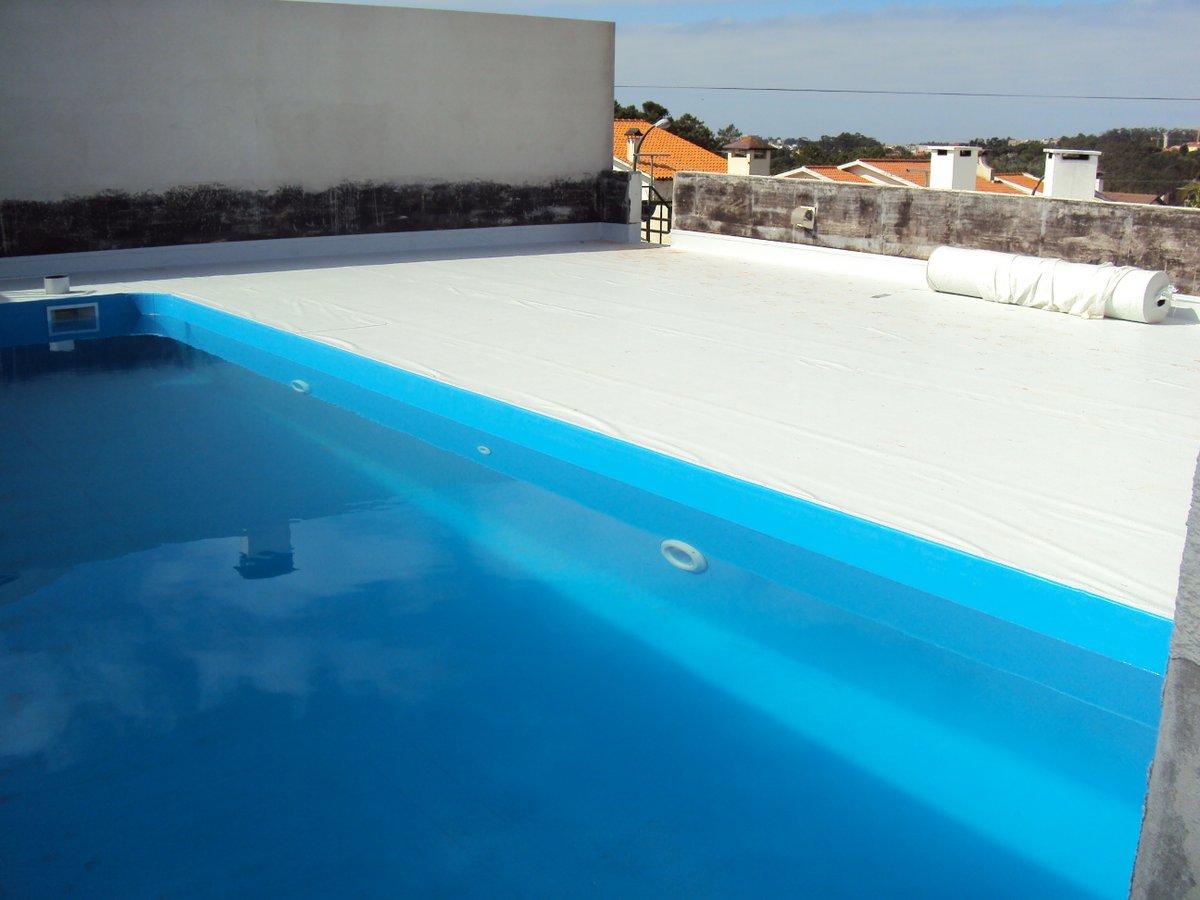 Impermeabilização de pincina e terraço com tela